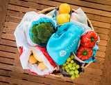 StarPack Reusable Produce Bags - Zero Waste Mesh Bags for Eco Friendly Grocery Shopping, Includes Storage Pouch