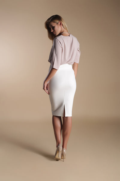 Loose Crepe Top-Champagne