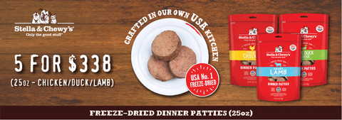 Stella & Chewys Freeze Dried Patties Super Saver Promo-Sept 2018