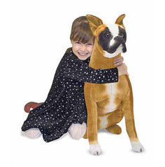 Melissa & Doug Boxer Dog Giant Stuffed Animal Toy