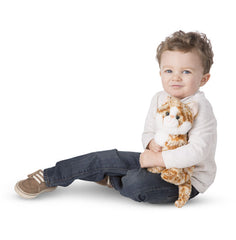 Melissa & Doug Pumpkin Tabby Cat Stuffed Animal Toy
