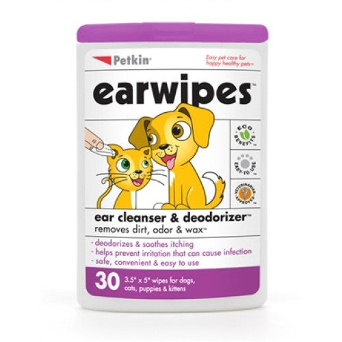 Petkin Earwipes For Dogs & Cats | Singpet.COM