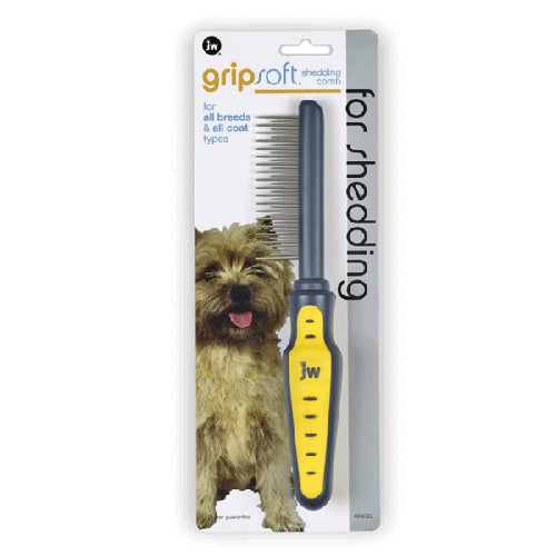 JW GripSoft Shedding Comb For Dogs | Singpet.COM