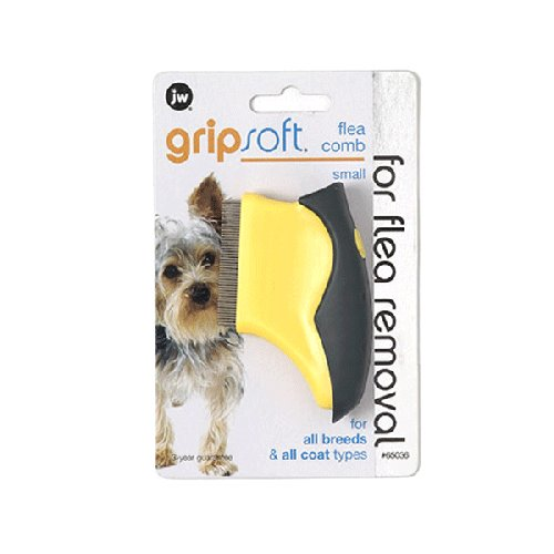 JW Gripsoft Flea Comb For Dogs, Small | Singpet.COM