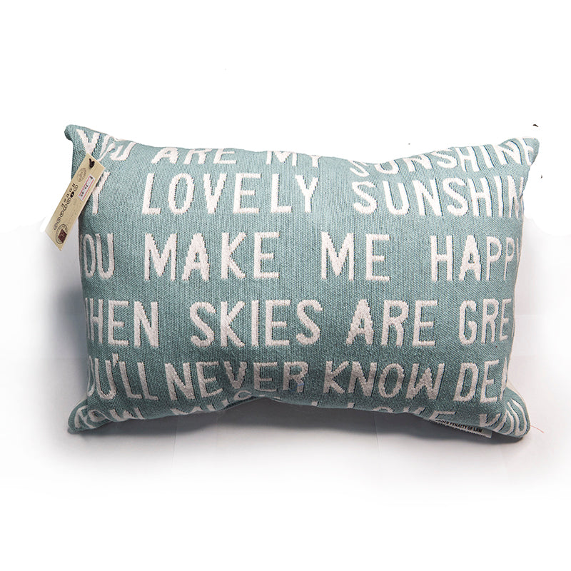 Park B. Smith Vintage House Pillow, You are my Sunshine.. Pattern