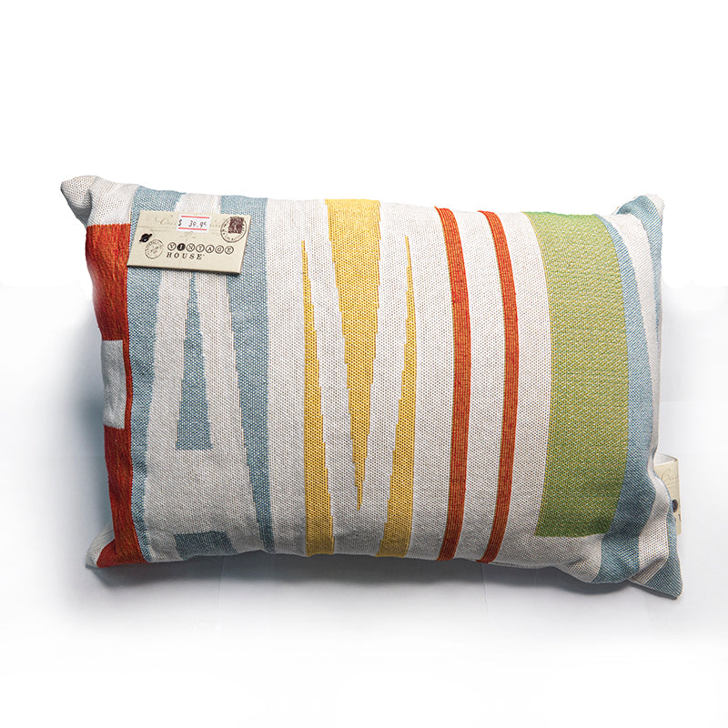 Park B. Smith Vintage House Pillow, Family Pattern