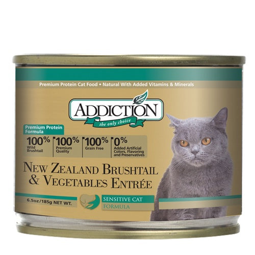Addiction New Zealand Brushtail & Vegetables Entree Wet Canned Food For Cats | Singpet.Com