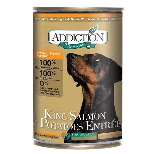 Addiction King Salmon & Potatoes Entrée - Wet Canned Dog Food | Singpet.COM