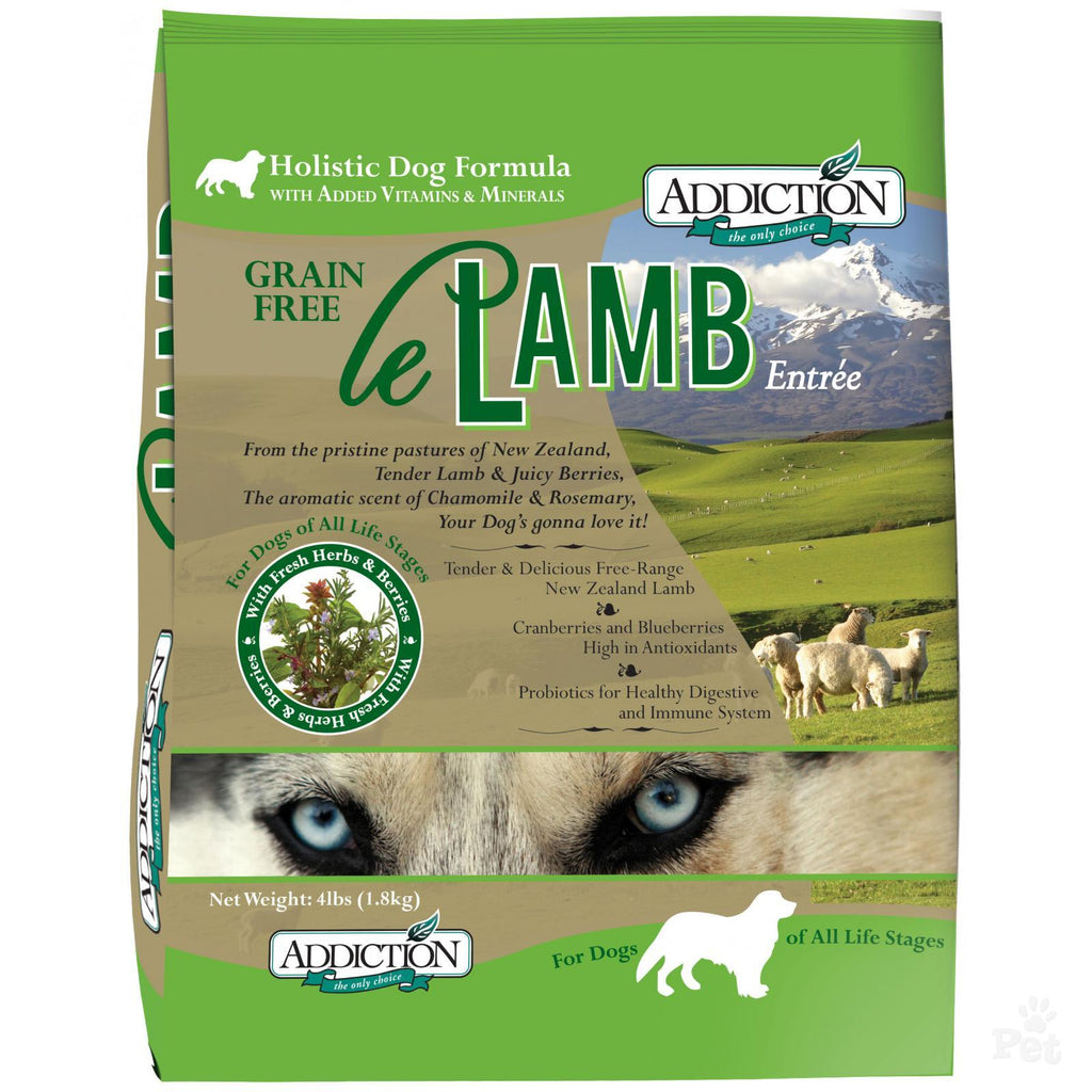 Addiction Le Lamb Grain Free Dry Dog Food | Singpet.Com