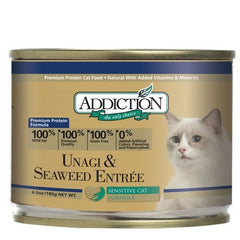 Addiction Unagi & Seaweed Wet Canned Food For Cats | Singpet.COM