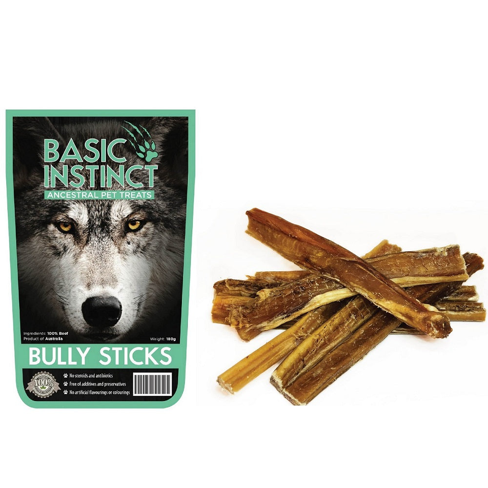 Basic Instinct Bully Sticks Natural Dog Treats | Singpet.Com