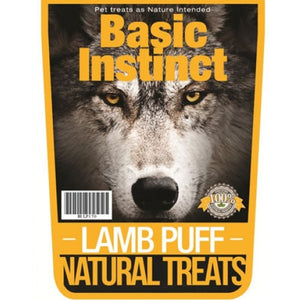 Basic Instinct Lamb Puff Natural Dog Treats | Singpet.COM