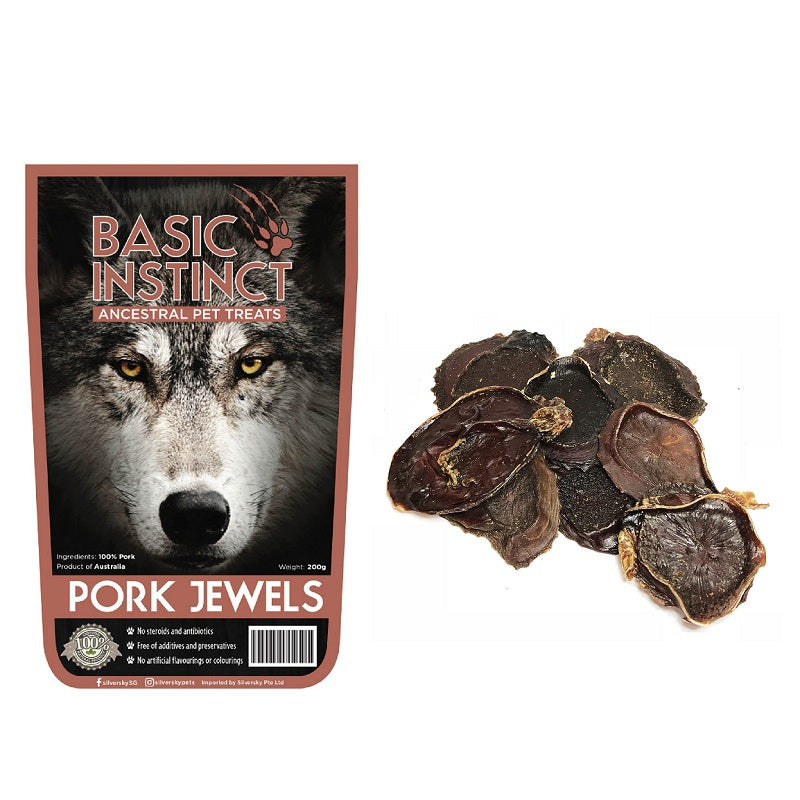 Basic Instinct Pork Jewels Natural Dog Treats | Singpet.Com