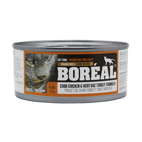 Boreal Cobb Chicken and Heritage Turkey Wet Cat Food | Singpet.Com