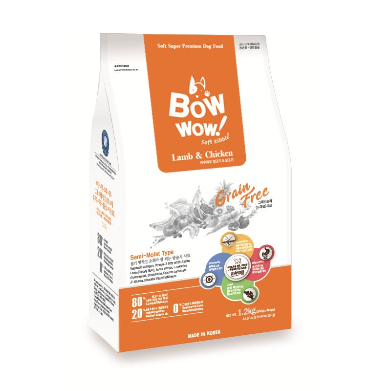Bow Wow Grain-Free Soft Kibble, Lamb & Chicken | Singpet.Com