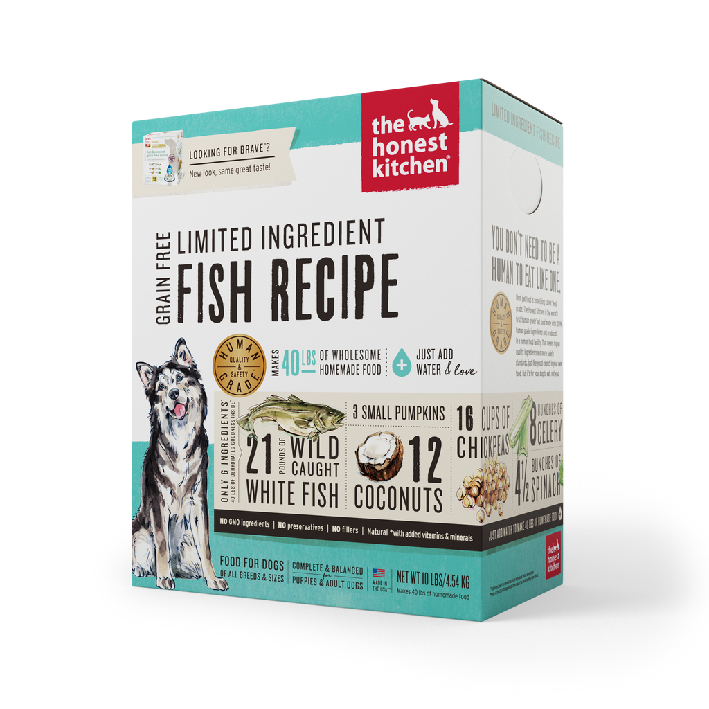 The Honest Kitchen Brave Fish & Coconut Grain-Free Dry Dog Food