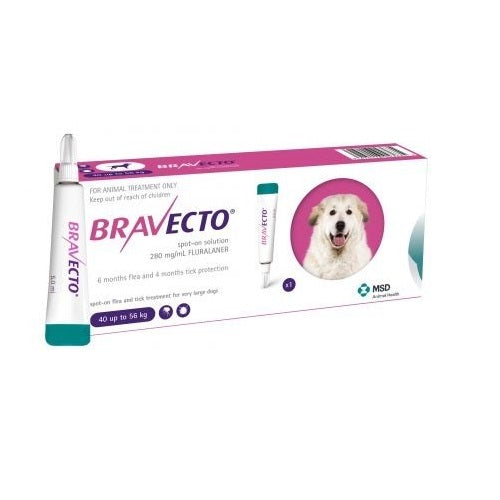 Bravecto Spot-On 1400mg for Very Large Dogs >40–56 kg (88-123 lbs) | Singpet.Com.Sg