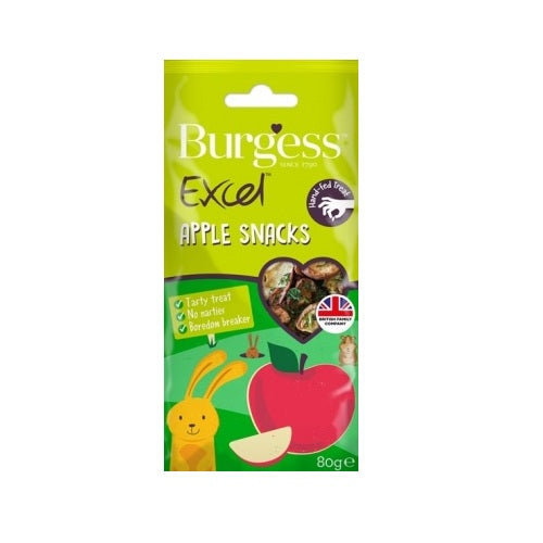 Burgess Excel Apple Snacks - Treats For Rabbits & Guinea Pigs