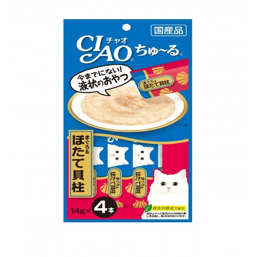 CIAO ChuRu White Meat Tuna & Scallop Cat Treats | Singpet.COM