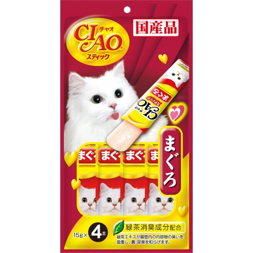 CIAO Stick Tuna (Katsuo) in Jelly Cat Treats | Singpet.COM