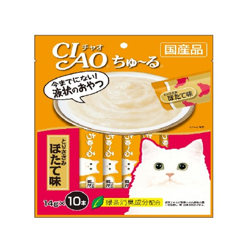 CIAO Churu Chicken Fillet Scallop Cat Treats | Singpet.COM
