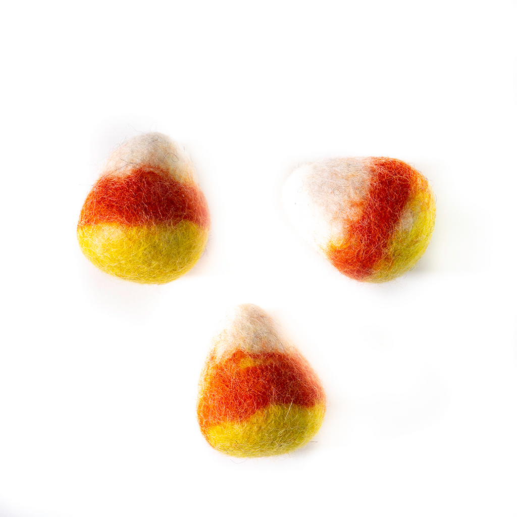 Dharma Dog Karma Cat Pack of 3 Candy Corn Toy For Cats