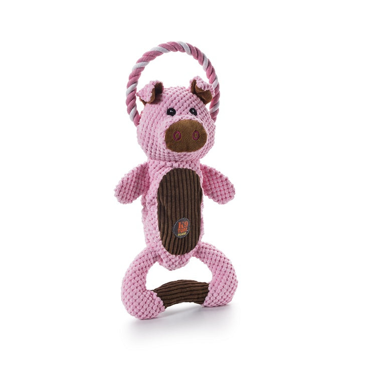Charming Pet Scrunch Bunch Squeaky Dog Toy, Pig | Singpet.Com