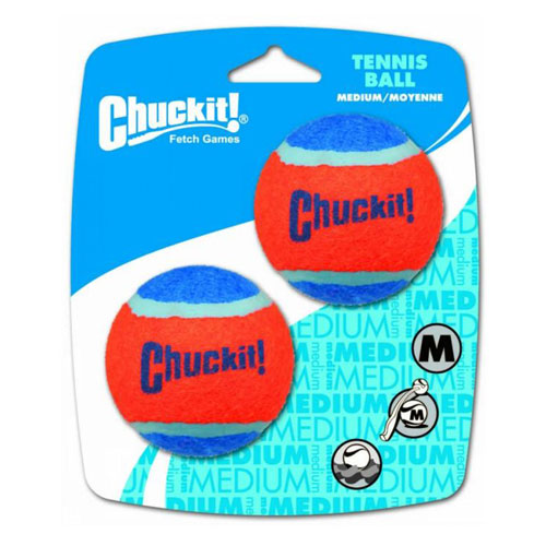 "Chuckit! Tennis Ball Toy For Dogs - Medium 2.5"" (6cm) Diameter, Pack of 2 