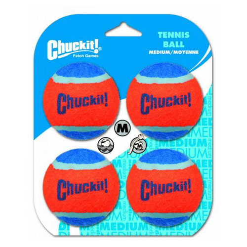 "Chuckit! Tennis Ball Toy For Dogs - Medium 2.5"" (6cm) Diameter, Pack of 4 