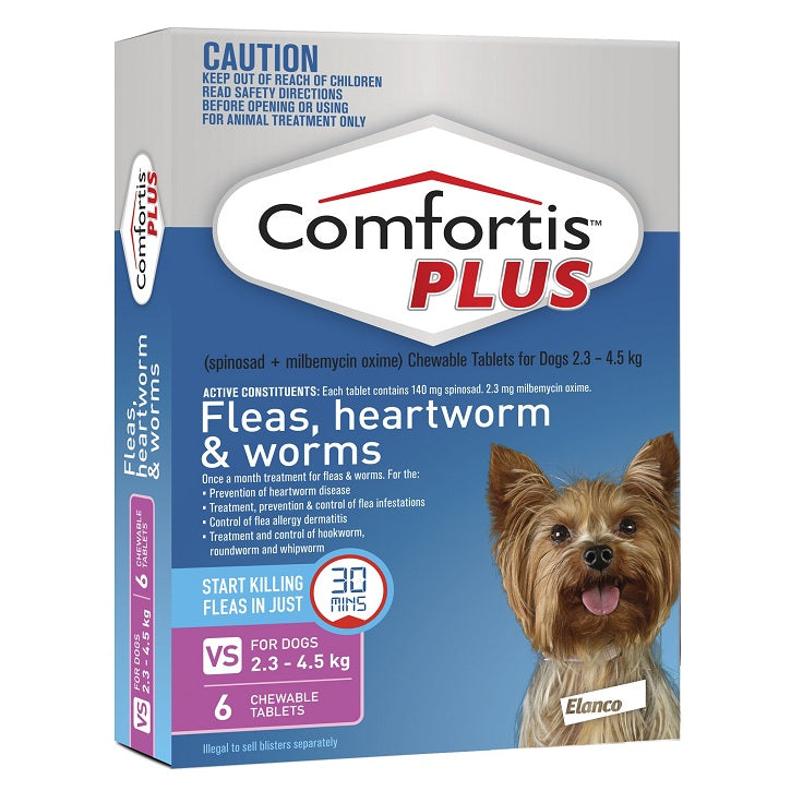 Comfortis Plus For Very Small Dogs 2.3-4.5 kg (5-9.9 lbs) | Singpet.Com
