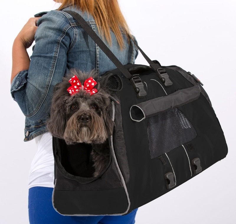 Petego Jet Set Forma Frame Carrier for Small Dogs, Cats & Other Small Animals, (Black) | Singpet.Com.Sg