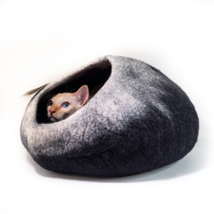Dharma Dog Karma Cat Black/White Ombre Cat Cave