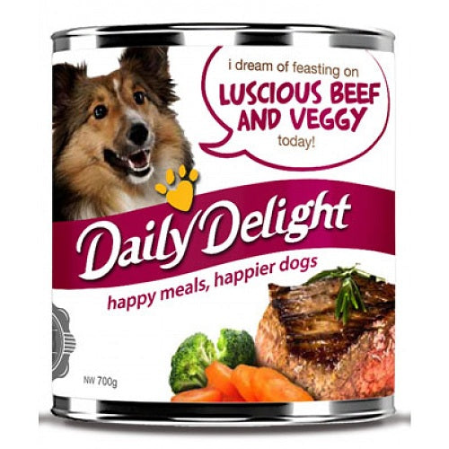 Daily Delight Luscious Beef & Veggy, 700 g | Singpet.Com