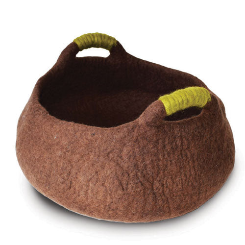 Dharma Dog Karma Cat Handle Basket Brown For Cats & Small Dogs | Singpet.Com