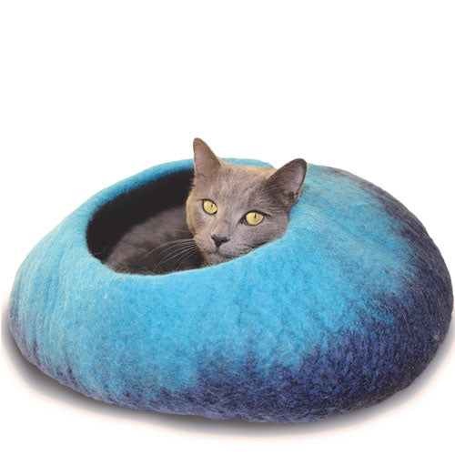 Dharma Dog Karma Cat Navy/Turquoise Ombre Cat Cave | Singpet.Com