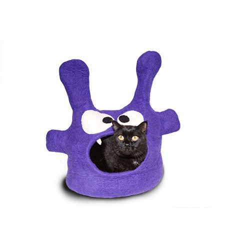 Dharma Dog Karma Cat Purple Monster Cat Cave | Singpet.Com