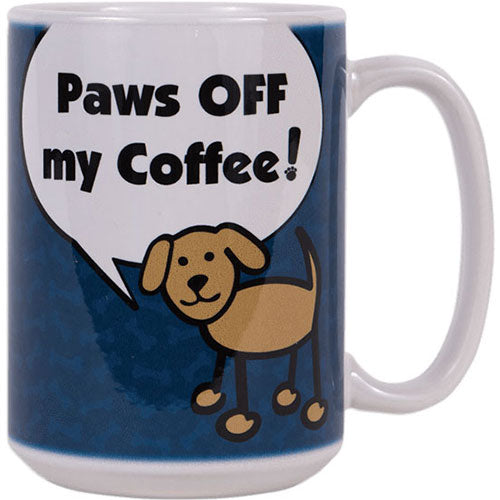 Dog Speak 15OZ Big Mug - Paws Off My Coffee | Singpet.Com