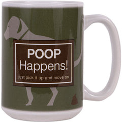 Dog Speak 15OZ Big Mug - Poop Happens | Singpet.Com