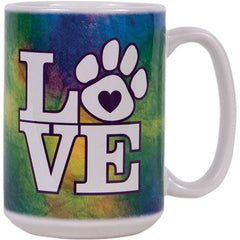 Dog Speak 15OZ Big Mug - Tye Dye Love | Singpet.Com