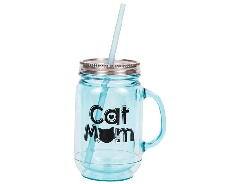 Dog Speak 20OZ Mason Jar Mug Cat Dad | Singpet.COM