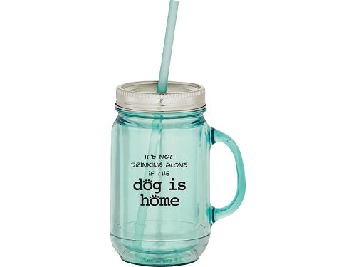 Dog Speak 20OZ Mason Jar Mug Dog Is Home | Singpet.COM