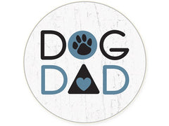Dog Speak Absorbent Stone Auto Coaster Dog Dad | Singpet.COM