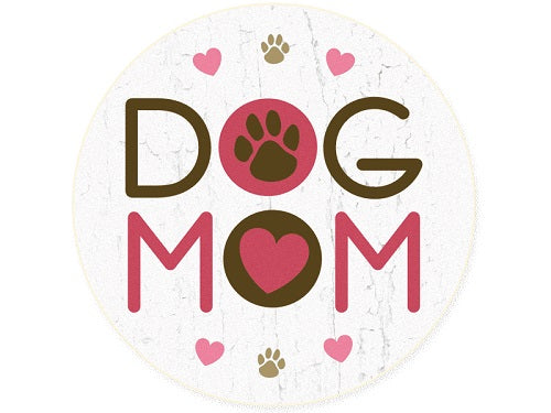 Dog Speak Absorbent Stone Auto Coaster Dog Mom | Singpet.COM