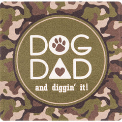 Dog Speak Absorbent Stone Coaster - Dog Dad | Singpet.Com