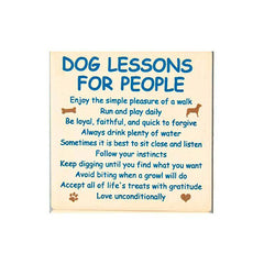 Dog Speak Absorbent Stone Coaster - Dog Lessons for People | Singpet.Com