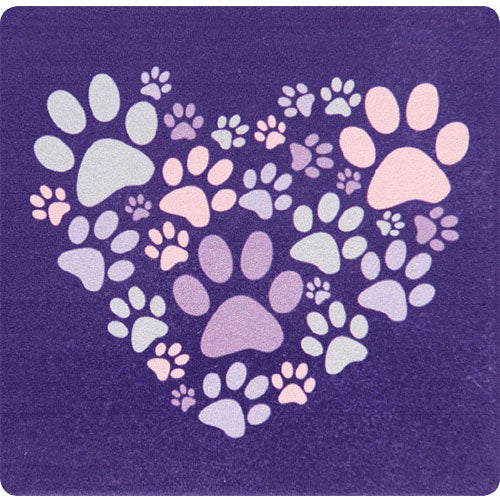 Dog Speak Absorbent Stone Coaster - Heart Paws | Singpet.Com