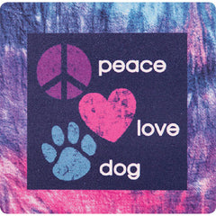 Dog Speak Absorbent Stone Coaster - Peace Love Dog | Singpet.Com