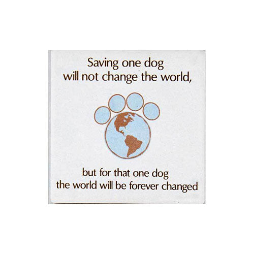 Dog Speak Absorbent Stone Coaster - Saving One Dog | Singpet.Com