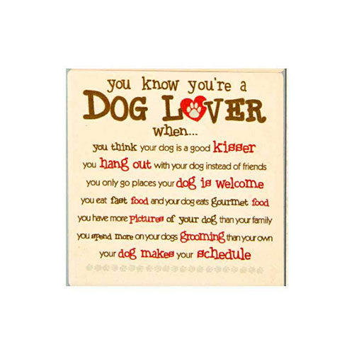 Dog Speak Absorbent Stone Coaster - You Know You are a Dog Lover | Singpet.Com