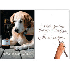Dog Speak Birthday Card - Like A Fine Wine | Singpet.Com